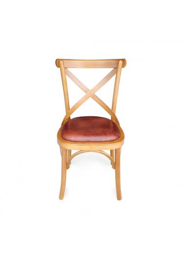 cadeira paris mel couro sintético
