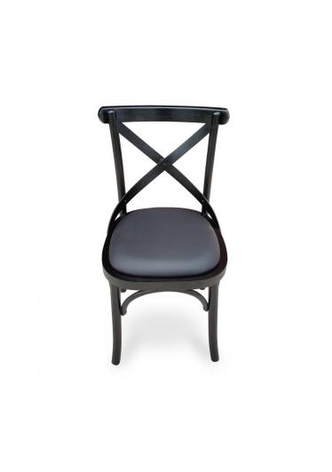 cadeira paris preto ebanizado sintético preto