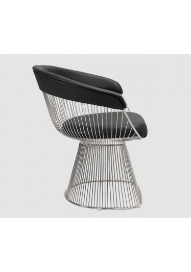 Cadeira Platner Assento Estofado e Encosto com Aplique Estrutura em Aço Nolan Collection Design by Warren Platner