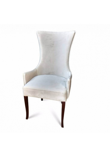 Cadeira Prado Lisa em Madeira Maciça com Tecidos Personalizáveis
