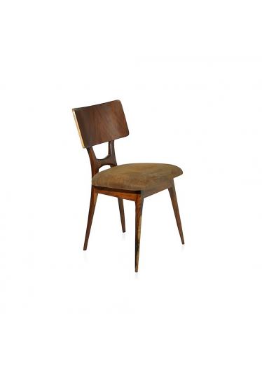 Cadeira Retrô Pé Palito Estrutura Imbuia Maciça