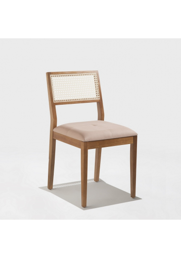 Cadeira Sicilia Encosto Palha Natural Base Madeira Maciça Jequitibá Tremarin Design by Studio Marko20