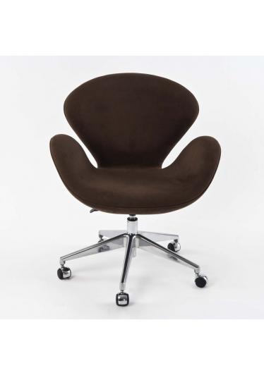 Cadeira Giratória com Braço Swan Office 5 Patas Rodízios Design by Studio Clássica