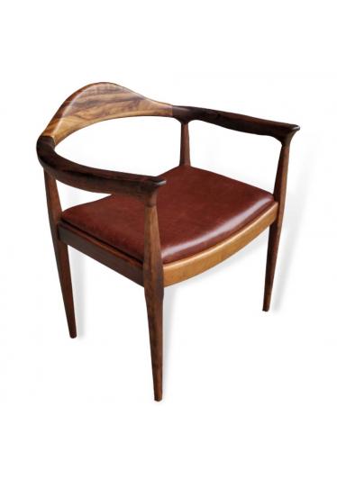 Cadeira The Chair Couro Natural