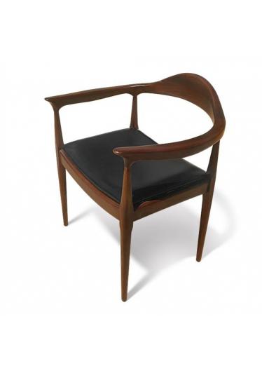 Cadeira The Chair Couro Legitimo designer Hans Wegner