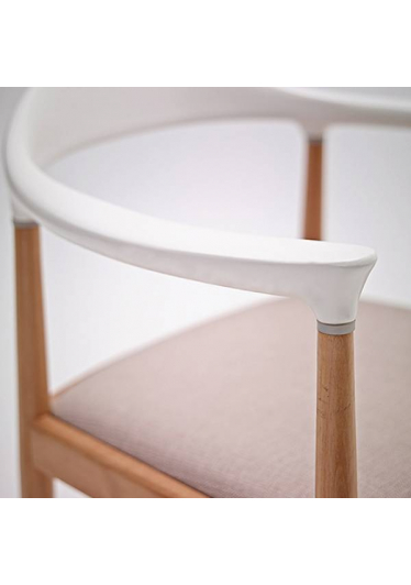 Cadeira The Chair Integral Skin Estrutura Madeira Maciça Artesian Design by Hans Wegner