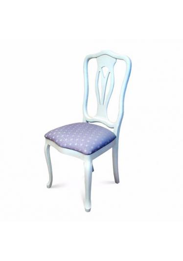 Cadeira Veneza em Madeira Maciça com Pinturas e Tecidos Personalizáveis