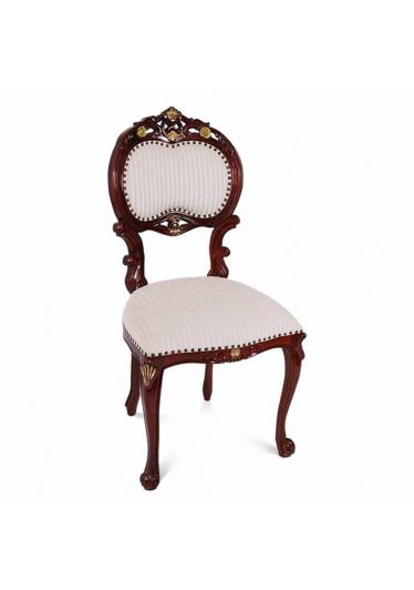 Cadeira Verona Entalhada em Madeira com Pinturas e Tecidos Personalizáveis