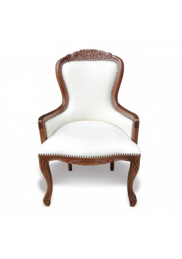 Cadeira Vitoriana Entalhada em Madeira com Pinturas e Tecidos Personalizáveis
