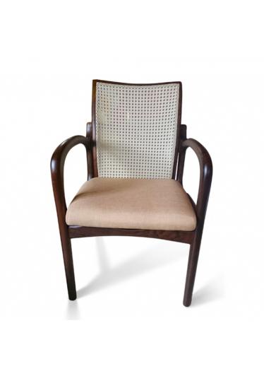 Cadeira VK Palhinha Natural Indiana com Pinturas e Tecidos Personalizáveis
