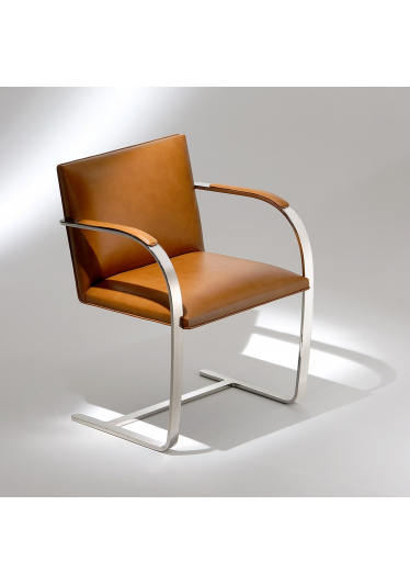 Cadeira Brno Estrutura Aço Inox Studio Mais Design by Mies Van Der Rohe
