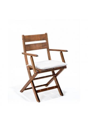Cadeira Dobrável Verona com Braços Madeira Maciça Mestra Móveis Linha Madeira