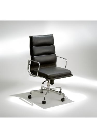Cadeira EA219 Soft com Braços Base Giratória em Alumínio Studio Mais Design by Charles e Ray Eames