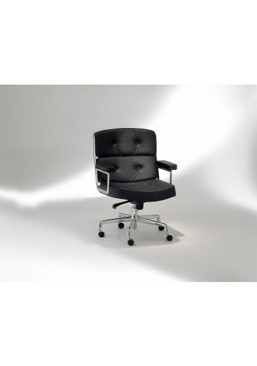 Cadeira ES 104 Lobby Chair com Braços Base Giratória em Alumínio Studio Mais Design by Charles e Ray Eames