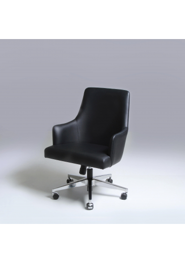 Cadeira MD com Braços Base Giratória em Aço Inox Design by Studio Mais