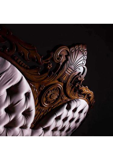 Cabeceira de Cama Lucca com Capitonê Madeira Maciça Design Clássico Avi Móveis