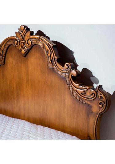 Cabeceira de Cama Luxo Madeira Maciça Design Clássico Avi Móveis
