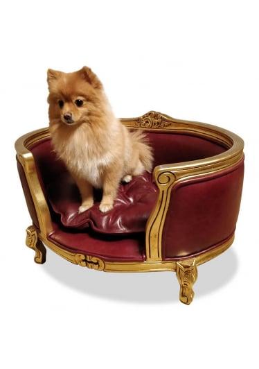 Cama Pet Clássica de Luxo em Madeira
