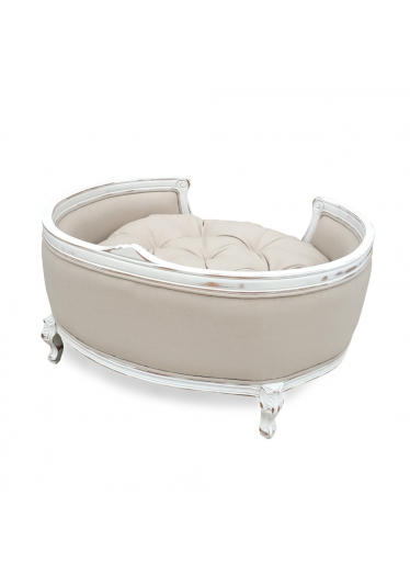 cama pet provençal branco envelhecido