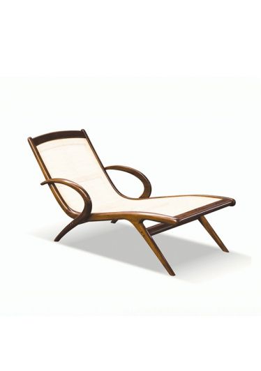 Chaise Anos 50 Estrutura Madeira Ipê Cremon Design by Anos 50