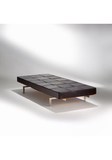 Chaise Couch PK 80 Aço Inox Estrado Madeira Studio Mais Design by Poul Kjaerholm