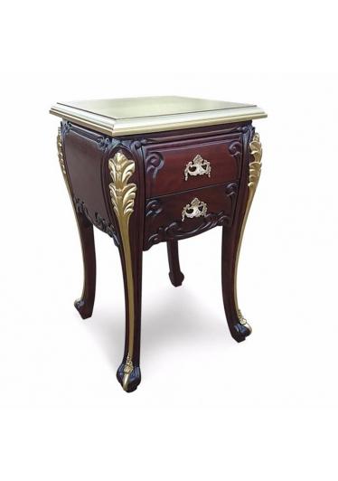 Criado Mudo Luis XV em Madeira Maciça com Pinturas e Puxadores Personalizados