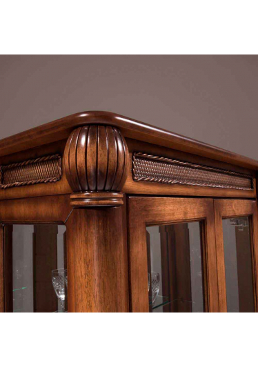 Cristaleira Victory 2 Portas Madeira Maciça Design Clássico Avi Móveis