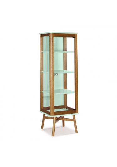 Cristaleira Mali em Vidro Madeira Maciça e MDF Máxima Móveis Design by Designo Design