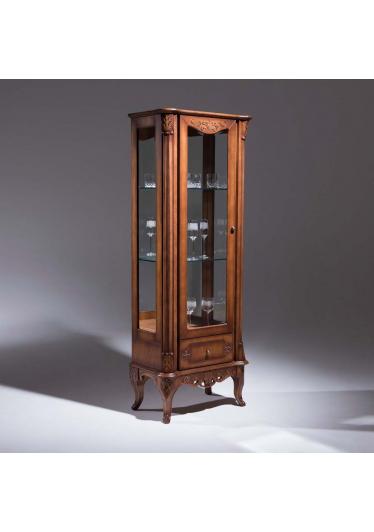 Cristaleira Premier 1 Porta Madeira Maciça Design Clássico Avi Móveis