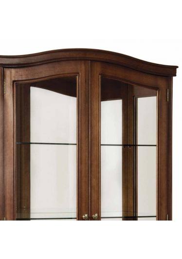 Cristaleira Córdoba Jequitibá 2 Portas de Vidro Espelho Iluminação em Led Bivolt Móveis Armil