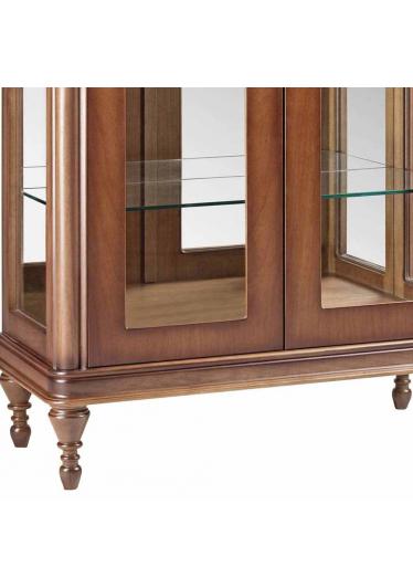 Cristaleira Miami Jequitibá 2 Portas em Vidro Espelho Iluminação em Led Bivolt Móveis Armil