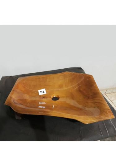 Cuba Banheiro Rustica em Madeira Maciça e Pintura em Verniz Peça Unica