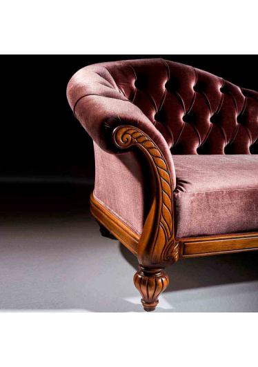 Divã Luxo Madeira Maciça Design Clássico Avi Móveis
