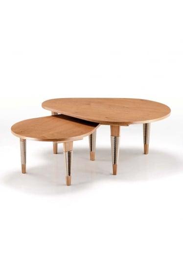Mesa de Centro Elon Oval com Corda Náutica Design by Studio Ozki
