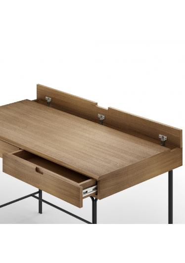 Escrivaninha Arco Retangular Base Aço Carbono Coleção Bari Tremarin Design by Ambos Studio