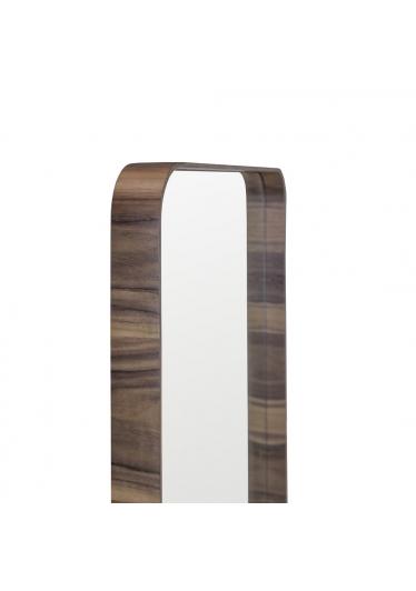 Espelho Phoenix Retangular Moldura Lâmina de Madeira Design Minimalista