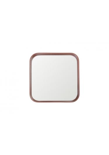 Espelho Phoenix Quadrado Moldura Multilaminada e Lâmina Madeira Design Industrial e Minimalista