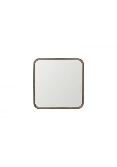 Espelho Phoenix Quadrado Moldura Lâmina de Madeira Design Minimalista