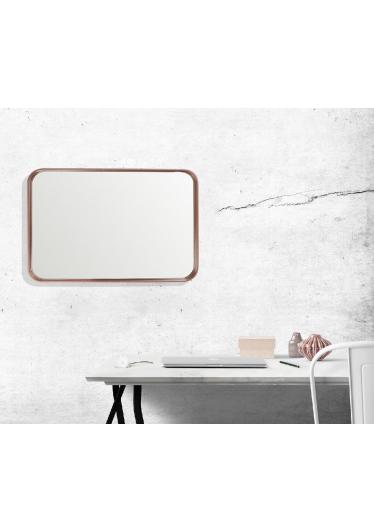 Espelho Phoenix Retangular Moldura Multilaminada e Lâmina Madeira Design Industrial e Minimalista