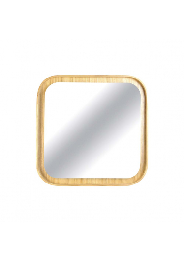Espelho Valentim Quadrado Estrutura Cinamomo Design Industrial e Minimalista