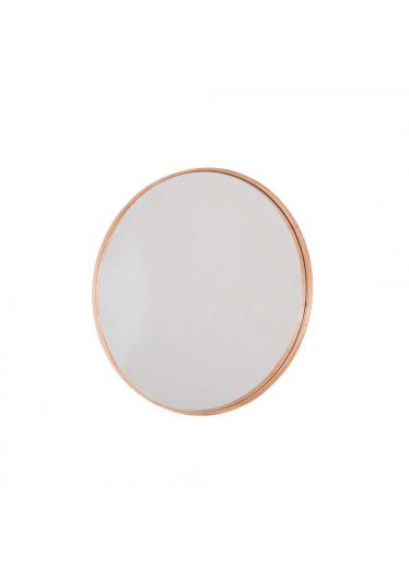 Espelho Forest Moldura MDF e Lâmina de Madeira Cinamomo Design Industrial e Minimalista