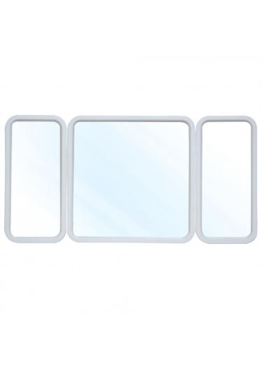 Espelho Alado em Resina Branco