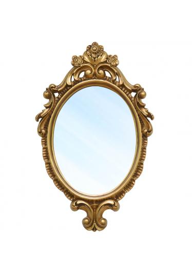 Espelho Turin Clássico em Resina e Pintura Dourada