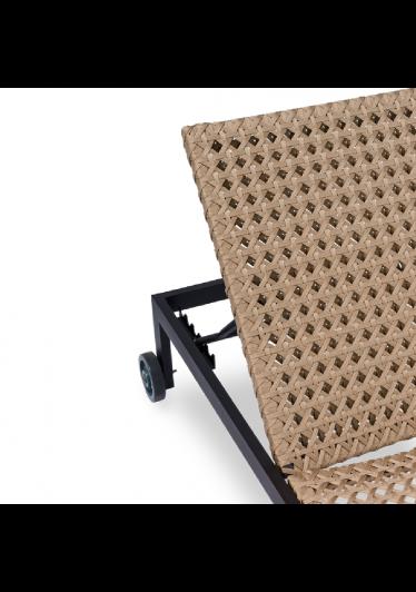Espreguiçadeira La Vita para Área Externa Trama Corda Náutica Estrutura Alumínio Eco Friendly Design Scaburi