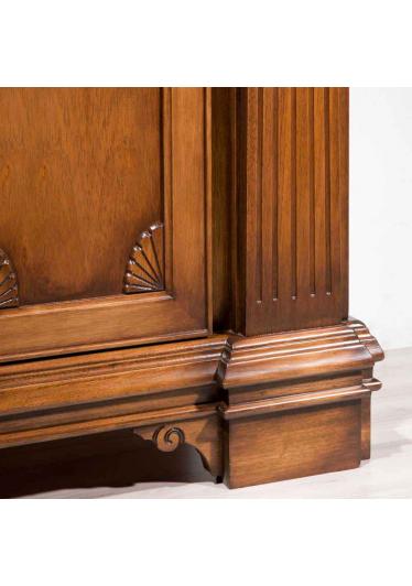 Estante de Livros Grande Fênix Madeira Maciça Design Clássico Avi Móveis