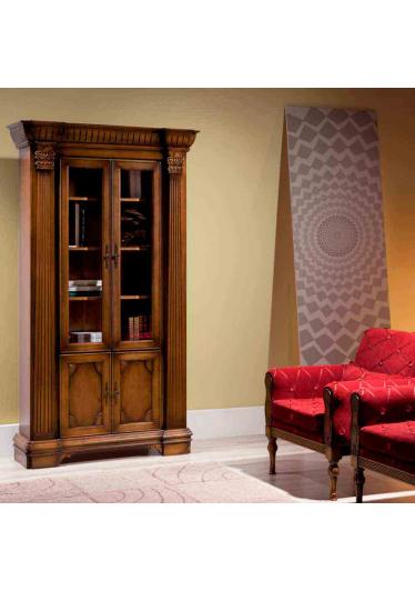 Estante de Livros Fênix Madeira Maciça Design Clássico Avi Móveis