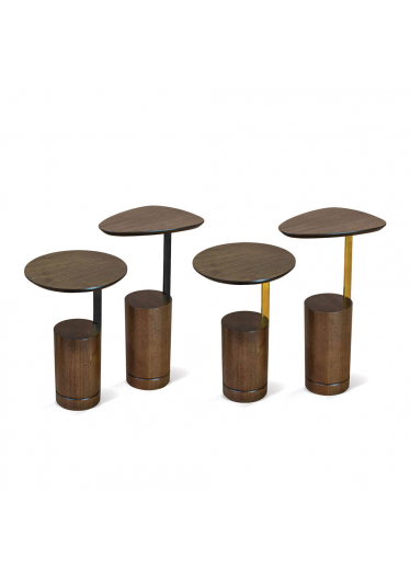 Mesa de Apoio Maine Oval Estilo Minimalista Destack Móveis Design by Studio Mooringa