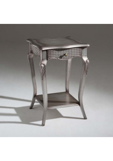Mesa de Cabeceira Heart Decorativa Madeira Maciça Design Clássico Avi Móveis