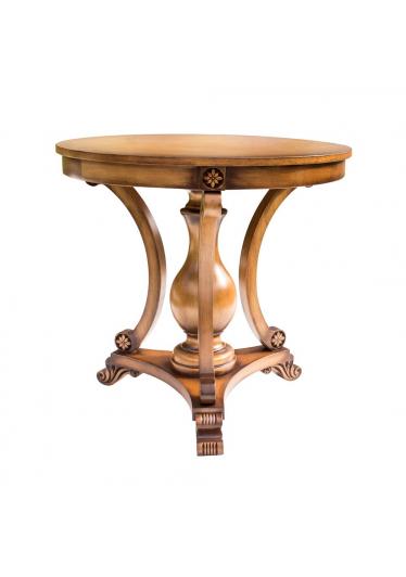 Mesa de Apoio Nicolau Decorativa Madeira Maciça Design Clássico Avi Móveis 3