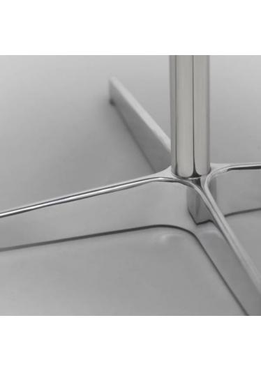 Mesa de Apoio Space II Estrutura em Aço Inox Artesian Design by Arne Jacobsen e Piet Hien